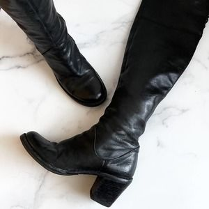 Fiorentini + Baker Lizzy Boots Over the Knee Black